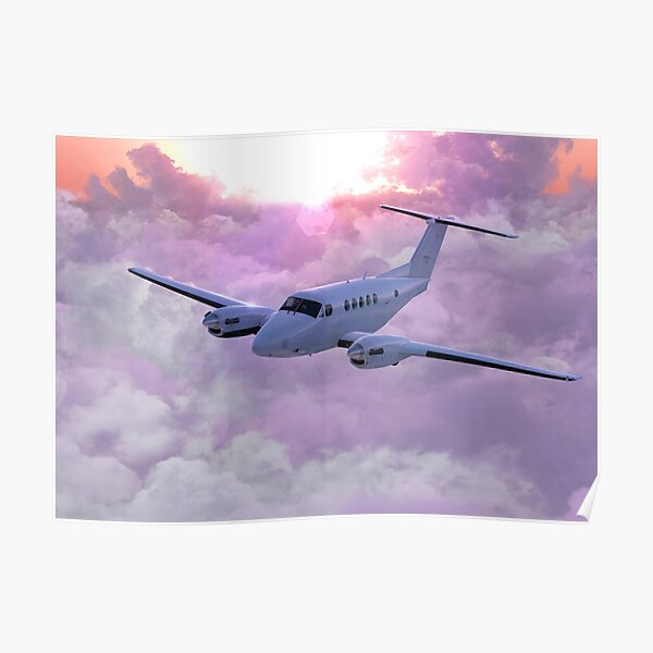 Beechcraft B200 KingAir Poster