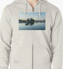 Lighthouse Daybreak at the Yacht Club Zipped Hoodie