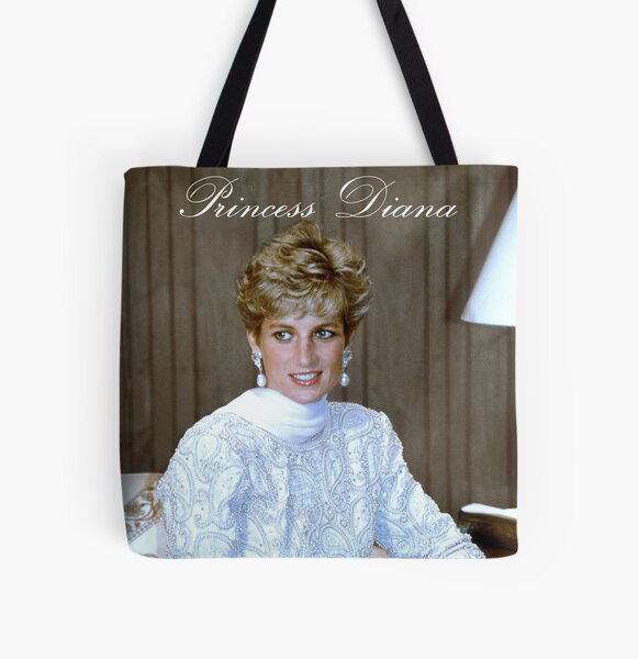 Iconic! HRH Princess of Wales All Over Print Tote Bag