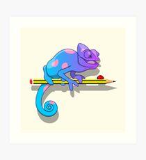 Colorblind chameleon Art Print