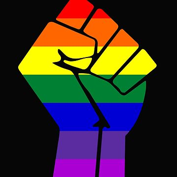 Raised Fist Gay Power LGBT by sweetsixty