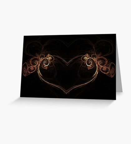 Heart of the Forest - Abstract Fractal Artwork Greeting Card