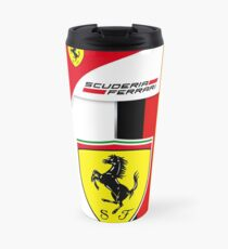 Ferrari Sebastian Vettel Logo and Helmet design Travel Mug