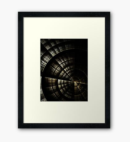 Into the Void  - Abstract Fractal Artwork Framed Print