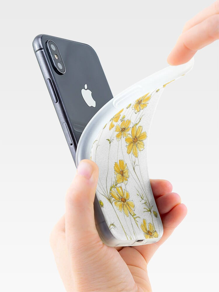 Alternate view of Yellow Cosmos Flowers iPhone Cases & Covers