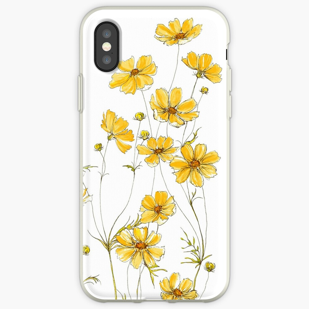 Yellow Cosmos Flowers iPhone Cases & Covers