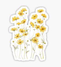 Yellow Cosmos Flowers Sticker