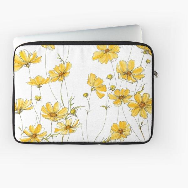 Gelbe Kosmosblumen Laptoptasche