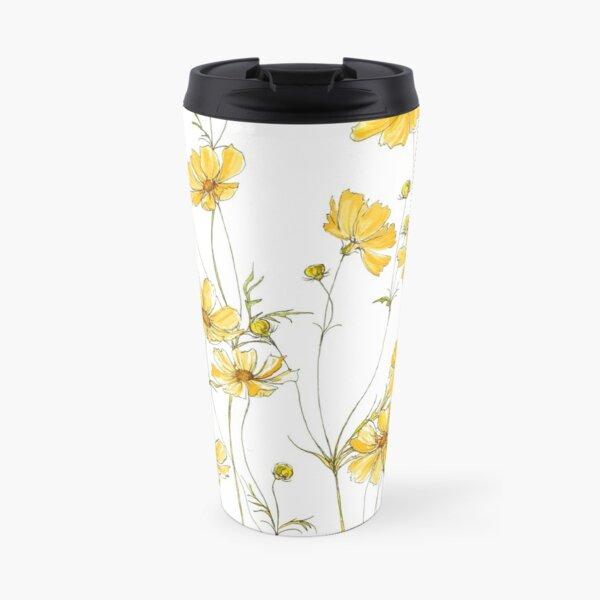 Yellow Cosmos Flowers Travel Mug