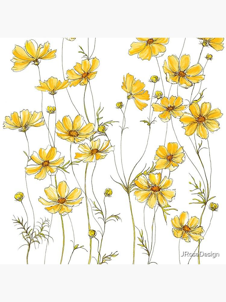 Gelbe Kosmosblumen von JRoseDesign