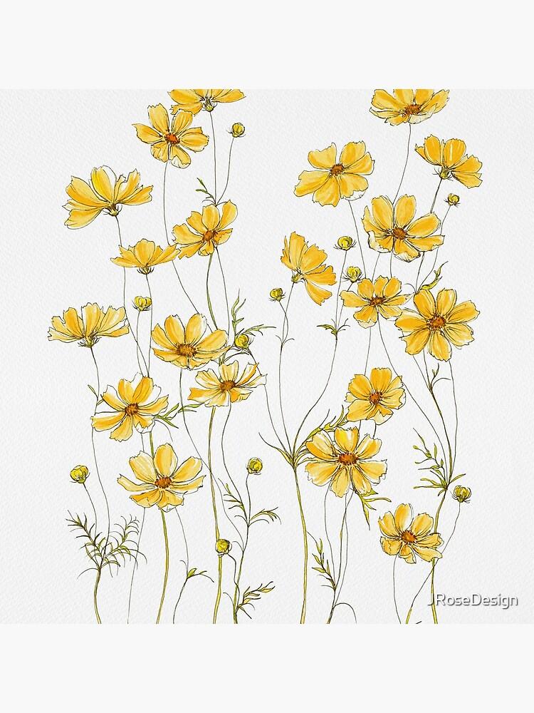 Flores amarillas de cosmos de JRoseDesign