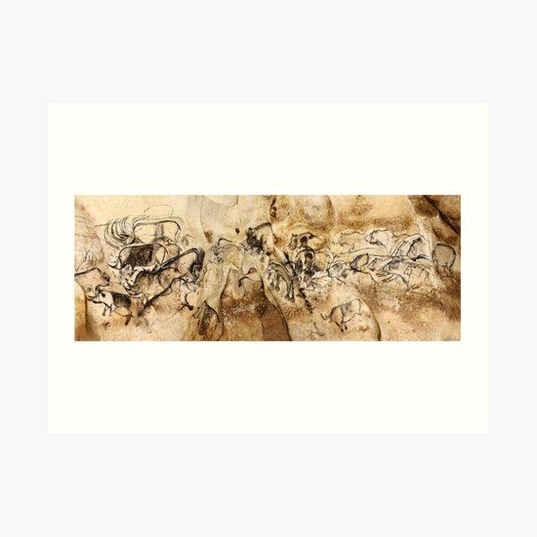 Chauvet Lions and Rhinos Art Print
