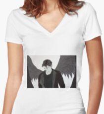 Diaval fanart Women's Fitted V-Neck T-Shirt