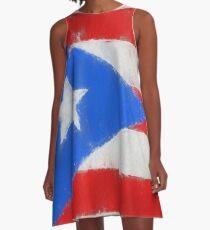 Puerto Rico Flag Reworked No. 66, Series 3 A-Linien Kleid