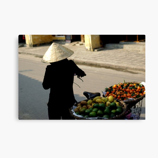 In the Streets of Hue Canvas Print