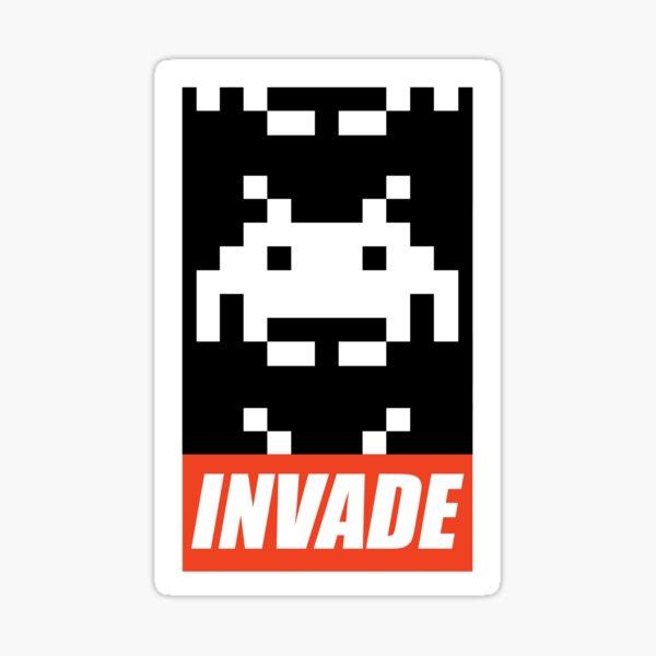 INVADE - Space Invaders Sticker