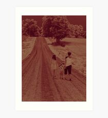 The road never ends....! Art Print