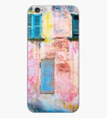 Rotting facade with two windows iPhone Case