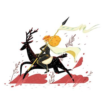 knight riding deer by daolinh