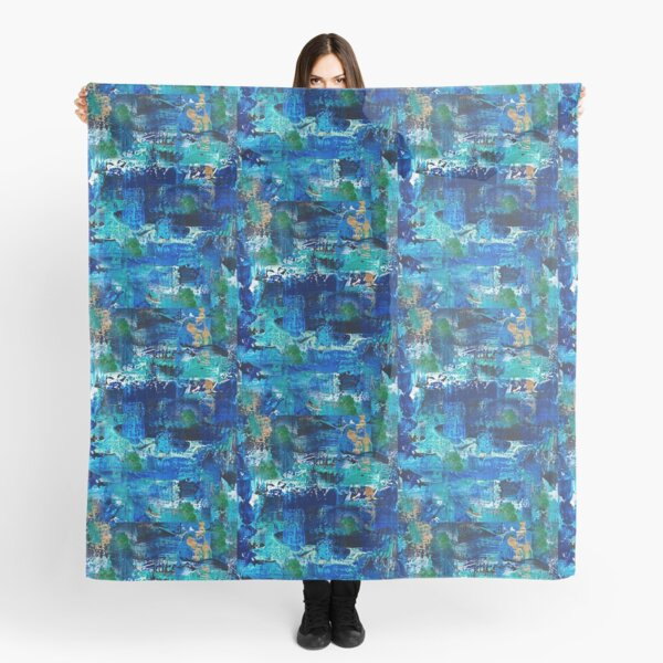 Abstract blues Scarf