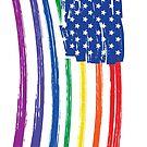 Pride American Flag in Rainbow Colors-LGBTQ in America by SleeplessLady