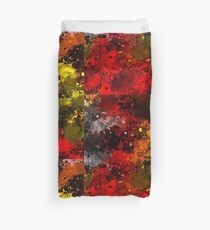 Riotous Autumn Abstract Duvet Cover