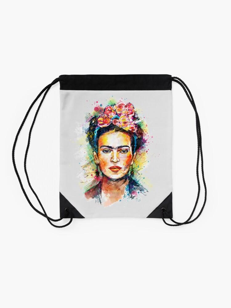 Alternate view of Frida Kahlo Drawstring Bag