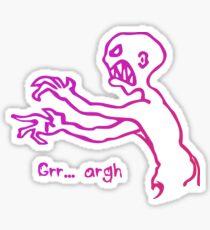 Grr Argh Monster Ombre Colours - Buffy the Vampire Slayer, Mutant Enemy, 90s, BTVS, Zombie, Joss Whedon, Buffyverse, Monster, Vampire, Grrr Arrgh Sticker