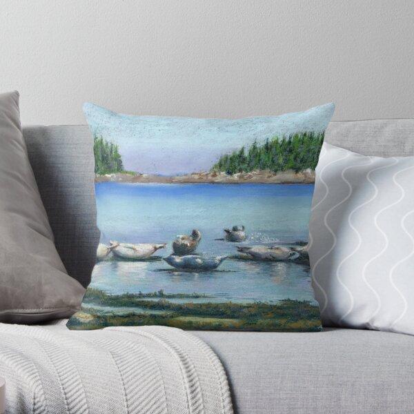 Seals of Bic Park Throw Pillow