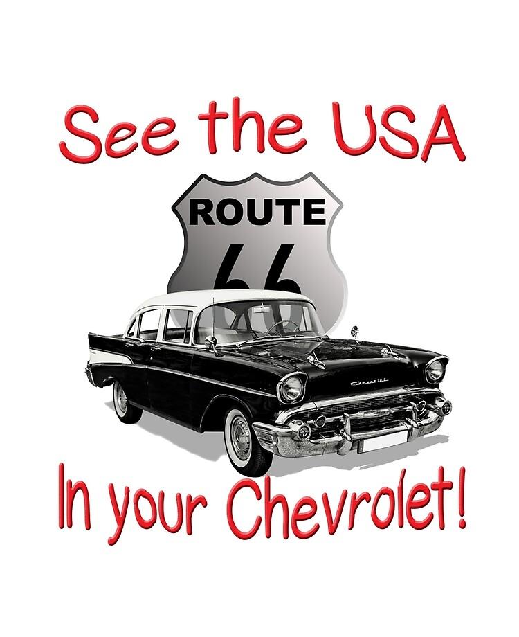 "See the USA in Your Chevrolet Retro Slogan 1957 Chevy"" iPad Case & Skin by  irishbabyboomer | Redbubble"