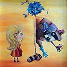 «Lulu meet raccoon» de Yrwig