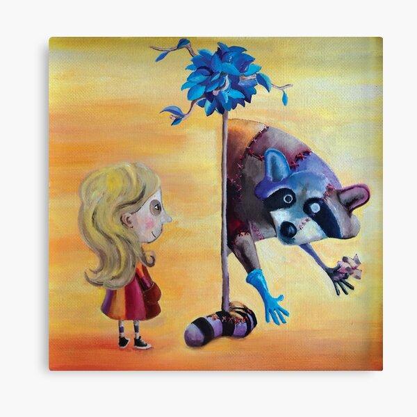 Lulu meet raccoon Lienzo