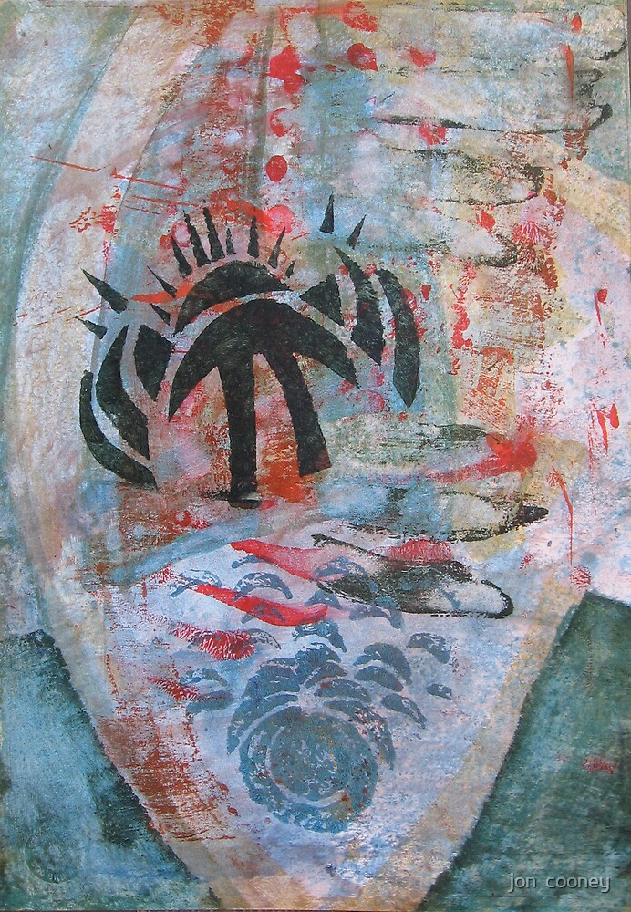 Meditation/Intention Painting Session 20 : 5 by jon  cooney