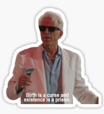 "The Good Place: ""Birth is a curse"" Sticker"