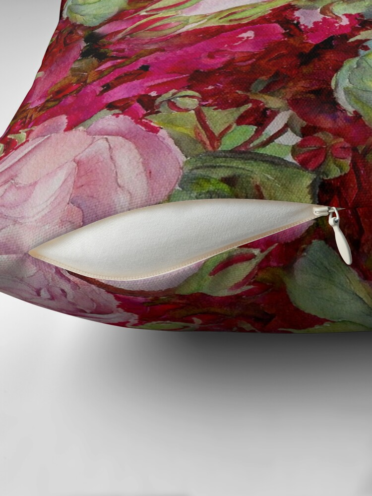Alternate view of Old roses Throw Pillow