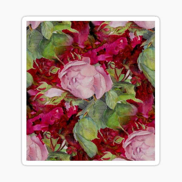 Old roses Sticker