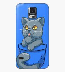 Funda/vinilo para Samsung Galaxy Pocket Cute British Shorthair Cat