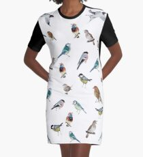 Birds Graphic T-Shirt Dress