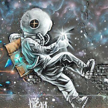 Epic painted Astronaut - Graffiti by alabafruit