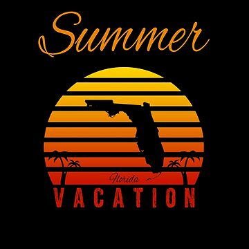 Summer Vacation Florida Miami Beach Holiday Retro Vintage by Basti09
