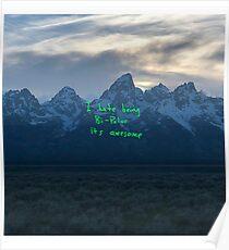 Kanye West Ye Album Cover Wyoming Poster