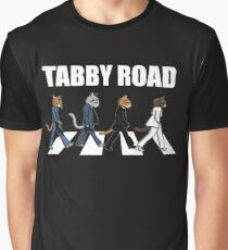 Tabby Road Cats for a Cool Cat Graphic T-Shirt