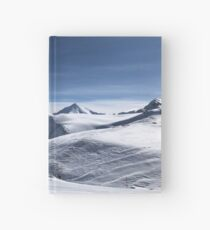 Ischgl skier in the mountains in the snow Hardcover Journal