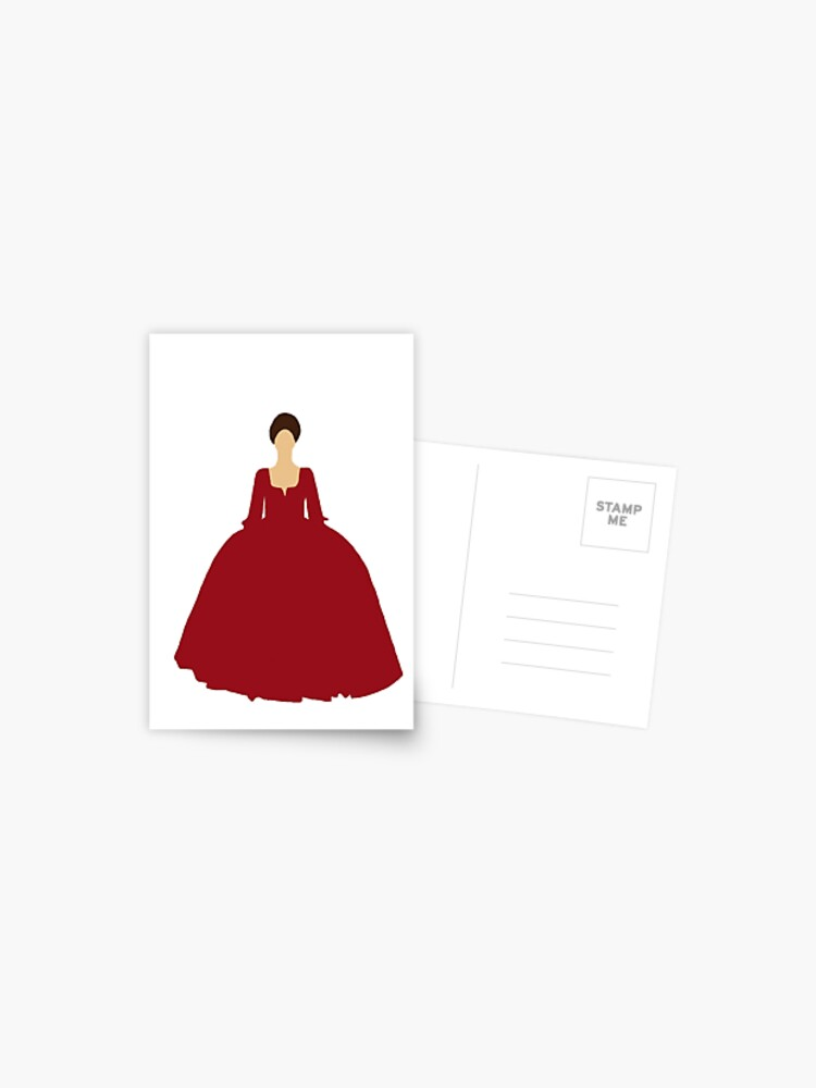 Claire Fraser Outlander Red Dress Postcard By Unitedfandomss Redbubble