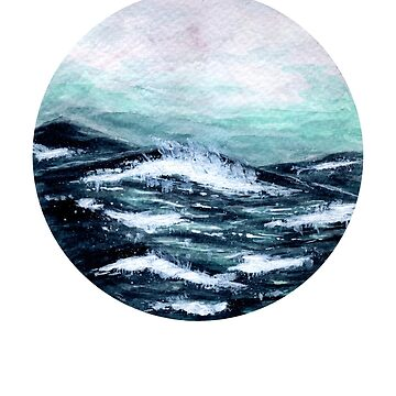 The Motion Of The Ocean - Watercolour Painting by patti2905