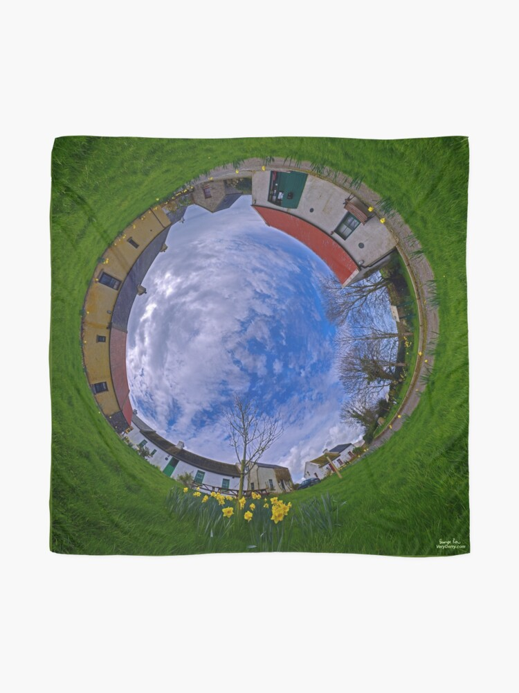 Alternate view of Hanna's Close, County Down (Sunny sky In) Scarf