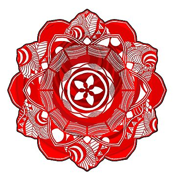 Red Spirit Mandala by mayuskimbe