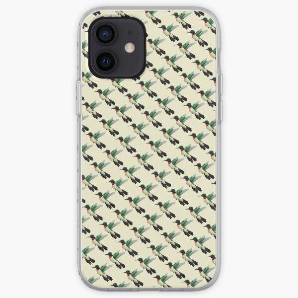 Hummingbird Pattern in Yellow iPhone Soft Case