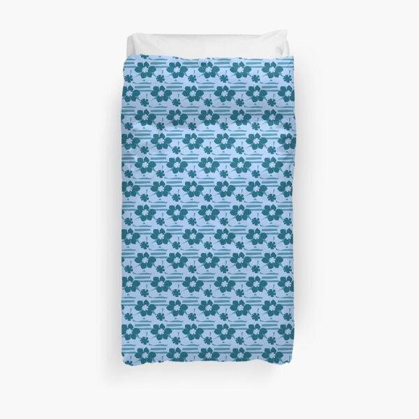 beach flower blue Duvet Cover