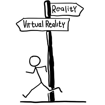 "Funny ""Virtual Reality vs Reality"" Signpost Design; Virtual Reality; Gamer by EireShirts"